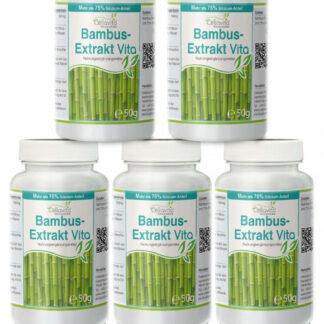 Bambus-Extrakt Vita | 5 x 50g Pulver Vorsorgepaket
