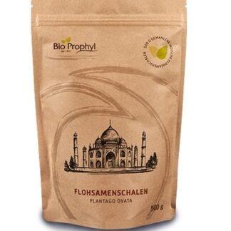 BioProphyl Flohsamenschalen Plantago ovata 500 g gemahlene indische Flohsamenschalen