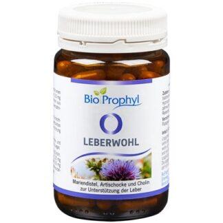 BioProphyl Leberwohl 60 pflanzliche Kapseln mit Cholin, Silymarin aus Mariendistelsamen und Extrakten aus Artischocke, Löwenzahn und Wermut