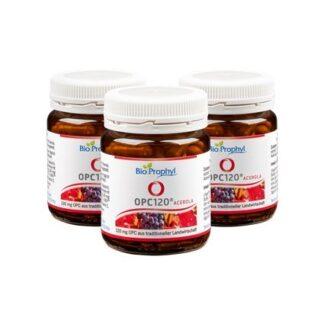 BioProphyl OPC120 Drei-Monatspaket 3 Gläser OPC120 à 60 pflanzlichen Kapseln