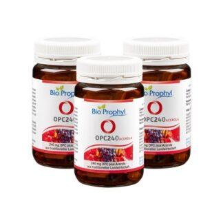 BioProphyl OPC240 Sechs-Monatspaket 3 Gläser OPC240 à 60 pflanzlichen Kapseln