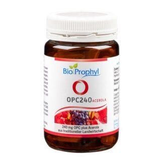 BioProphyl OPC240 plus Acerola 60 pflanzliche Kapseln mit je 240 mg reinem OPC plus natürlichem Vitamin C