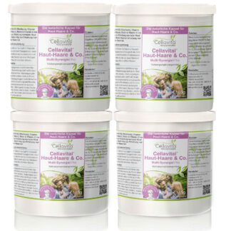 Cellavital Haut-Haare & Co. - Vorsorgepaket - 4 x 180 Kapseln | Rezeptur nach Dr. med. M. Doepp