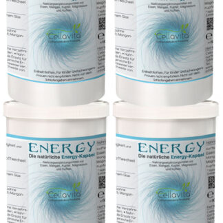 Energy - Die natürliche Energie-Kapsel | 4 x 60 Kapseln (Vorsorge)