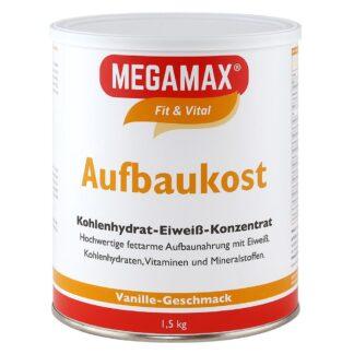 MEGAMAX® Fit & Vital Aufbaukost Kohlenhydrat-Eiweiß-Konzentrat Vanille-Geschmack