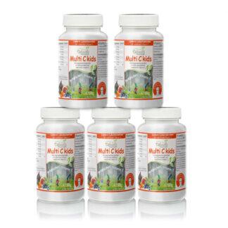 Multi C kids Vorsorgepaket für Kinder 5 x 180 Tabletten | Rezeptur nach Dr. med. M. Doepp