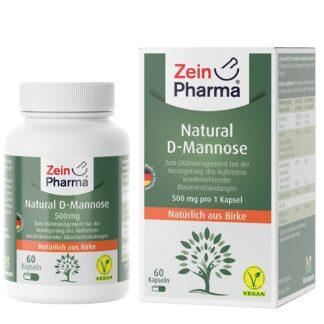 Natural D Mannose Kapseln 500 mg ZeinPharma