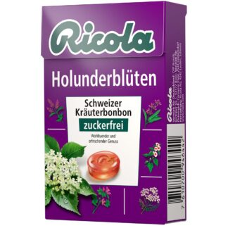 Ricola® Schweizer Kräuterbonbons Box Holunderblüten ohne Zucker