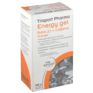 Trisport Pharma Energy Gel Verhältnis 2:1 + Coffein und Orange