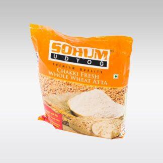Buy Sohum Udyog Chaki Atta 5kg (Fresh Whole Wheat)