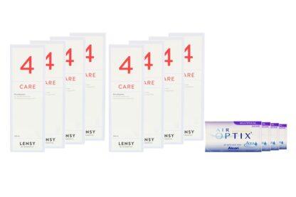 Air Optix Aqua Multifocal 4 x 6 Monatslinsen + Lensy Care 4 Jahres-Sparpaket