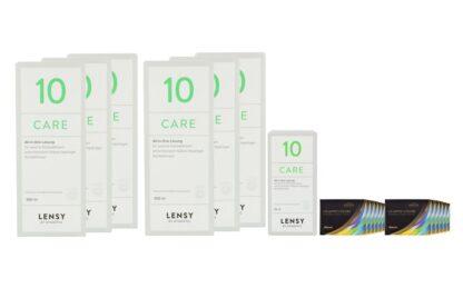Air Optix Colors 12 x 2 farbige Monatslinsen + Lensy Care 10 Jahres-Sparpaket