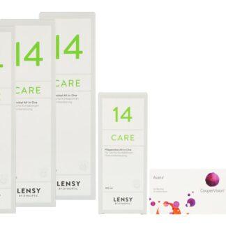 Avaira Vitality 2 x 6 Monatslinsen + Lensy Care 14 Halbjahres-Sparpaket