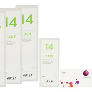 Avaira toric Vitality 2 x 6 Monatslinsen + Lensy Care 14 Halbjahrespaket