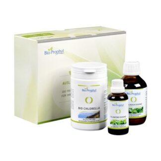 BioProphyl Ausleitung Abschlusspaket 1 x BIO Chlorella 500 DE-ÖKO-013 + 1 x Bärlauch-Essenz + 1 x Cilantro-Essenz