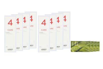 Bios 1-Monat 4 x 6 Monatslinsen + Lensy Care 4 Jahres-Sparpaket