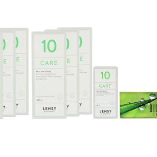 Bios Comfort 4 x 6 Monatslinsen + Lensy Care 10 Jahres-Sparpaket
