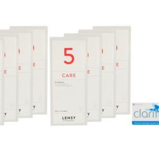 Clariti elite 4 x 6 Monatslinsen + Lensy Care 5 Jahres-Sparpaket