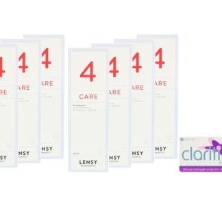 Clariti multifocal 4 x 6 Monatslinsen + Lensy Care 4 Jahres-Sparpaket