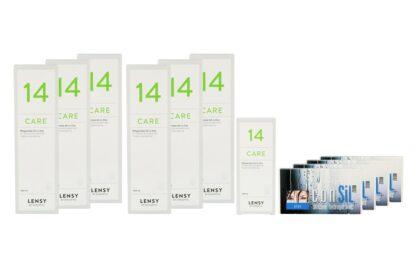 ConSiL Plus Zoom 4 x 6 Monatslinsen + Lensy Care 14 Jahres-Sparpaket