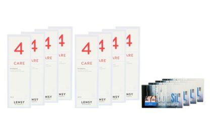 ConSiL Plus Zoom 4 x 6 Monatslinsen + Lensy Care 4 Jahres-Sparpaket