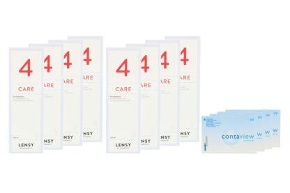 Contaview premium UV 4 x 6 Monatslinsen + Lensy Care 4 Jahres-Sparpaket
