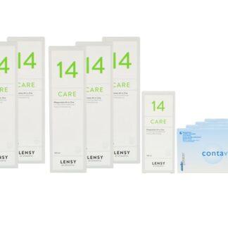 Contaview premium toric UV 4 x 6 Monatslinsen + Lensy Care 14 Jahres-Sparpaket