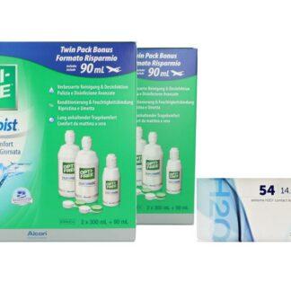 Extreme H2O 54 4 x 6 Monatslinsen + Opti Free Pure Moist Jahres-Sparpaket