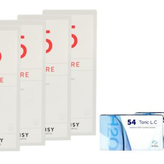 Extreme H2O 54 Toric LC 2 x 6 Monatslinsen + Lensy Care 5 Halbjahres-Sparpaket