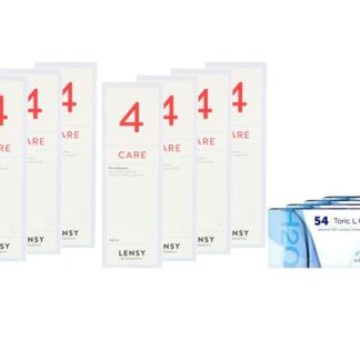 Extreme H2O 54 Toric LC 4 x 6 Monatslinsen + Lensy Care 4 Jahres-Sparpaket