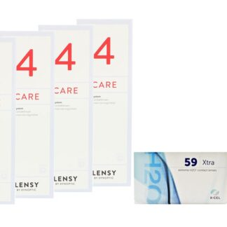Extreme H2O 59 Xtra 2 x 6 Monatslinsen + Lensy Care 4 Halbjahres-Sparpaket
