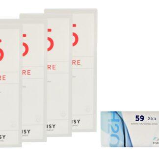 Extreme H2O 59 Xtra 2 x 6 Monatslinsen + Lensy Care 5 Halbjahres-Sparpaket