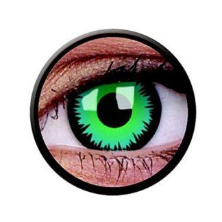 Funny Lens 2 Motiv-Drei-Monatslinsen Green Werewolf