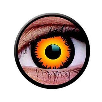 Funny Lens 2 Motiv-Drei-Monatslinsen Orange Werewolf