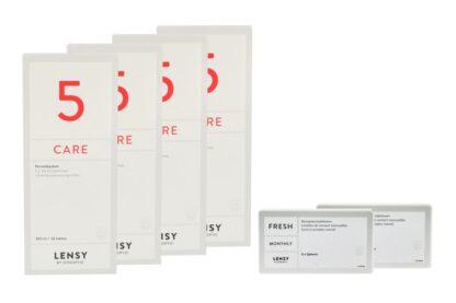 Lensy Monthly Fresh Spheric 2 x 6 Monatslinsen + Lensy Care 5 Halbjahres-Sparpaket