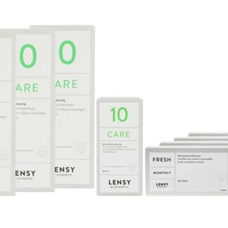 Lensy Monthly Fresh Toric 4 x 3 Monatslinsen + Lensy Care 10 Halbjahres-Sparpaket