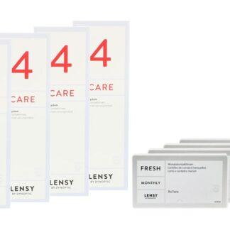 Lensy Monthly Fresh Toric 4 x 3 Monatslinsen + Lensy Care 4 Halbjahres-Sparpaket