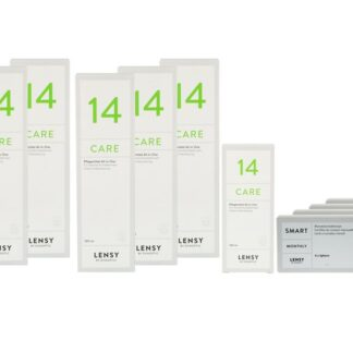 Lensy Monthly Smart Spheric 4 x 6 Monatslinsen + Lensy Care 14 Jahres-Sparpaket