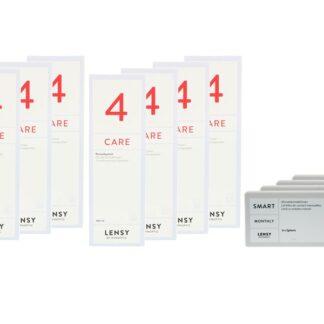 Lensy Monthly Smart Spheric 4 x 6 Monatslinsen + Lensy Care 4 Jahres-Sparpaket