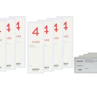Lensy Monthly Smart Toric 4 x 6 Monatslinsen + Lensy Care 4 Jahres-Sparpaket