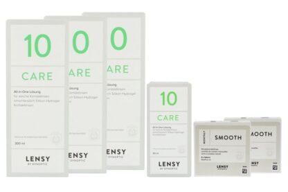 Lensy Monthly Smooth Spheric 2 x 6 Monatslinsen - Lensy Care 10 Halbjahres-Sparpaket