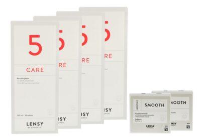 Lensy Monthly Smooth Spheric 2 x 6 Monatslinsen + Lensy Care 5 Halbjahres-Sparpaket