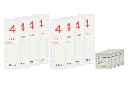 Lensy Monthly Smooth Spheric 4 x 6 Monatslinsen + Lensy Care 4 Jahres-Sparpaket