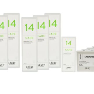 Lensy Monthly Smooth Toric 4 x 6 Monatslinsen + Lensy Care 14 Jahres-Sparpaket