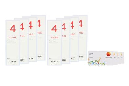 Proclear Toric 4 x 6 Monatslinsen + Lensy Care 4 Jahres-Sparpaket