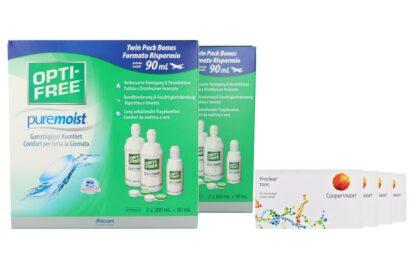 Proclear Toric 4 x 6 Monatslinsen + Opti Free Pure Moist Jahres-Sparpaket