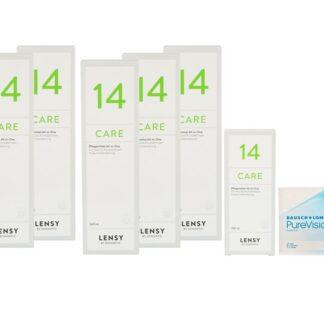 Pure Vision 2 HD 4 x 6 Monatslinsen + Lensy Care 14 Jahres-Sparpaket