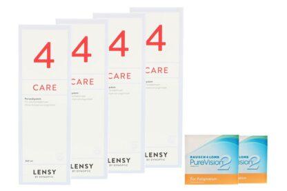 Pure Vision 2 HD For Astigmatism 2 x 6 Monatslinsen + Lensy Care 4 Halbjahres-Sparpaket