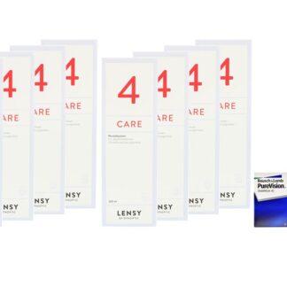 Pure Vision 4 x 6 Monatslinsen + Lensy Care 4 Jahres-Sparpaket