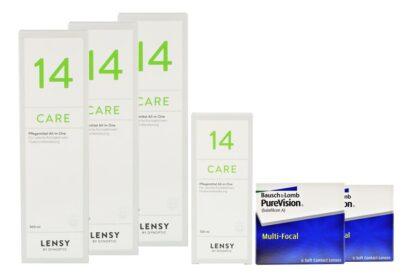 Pure Vision Multifocal 2 x 6 Monatslinsen + Lensy Care 14 Halbjahres-Sparpaket